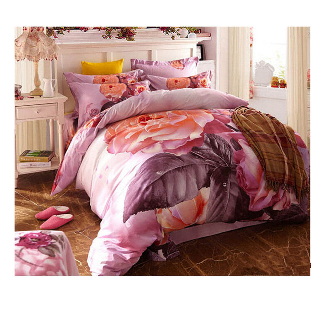 Cotton Active floral printing Quilt Duvet Sheet Cover Sets  Size 46 - Mega Save Wholesale & Retail