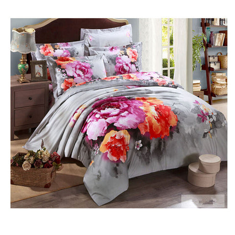 Cotton Active floral printing Quilt Duvet Sheet Cover Sets  Size 49 - Mega Save Wholesale & Retail