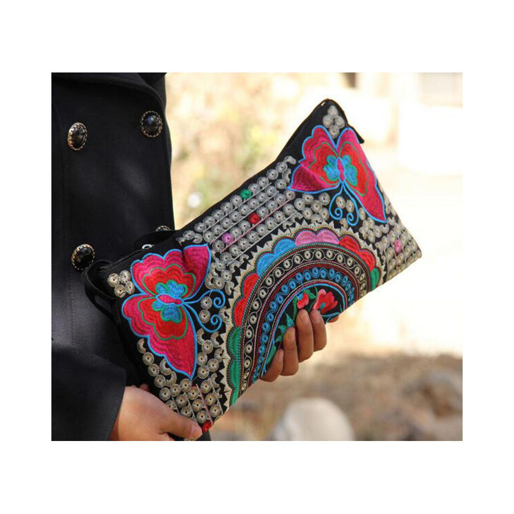 Original Yunnan Featured National Style Embroidery Bag Zipper Cotton Single-shoulder Bag Handbag Messenger Bag     1 - Mega Save Wholesale & Retail - 4
