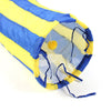 Foldable Cat Pet Tunnel Play with Crinkle Sound Kitten Puppy Tube Toy Three size S Yellow and Blue - Mega Save Wholesale & Retail - 2