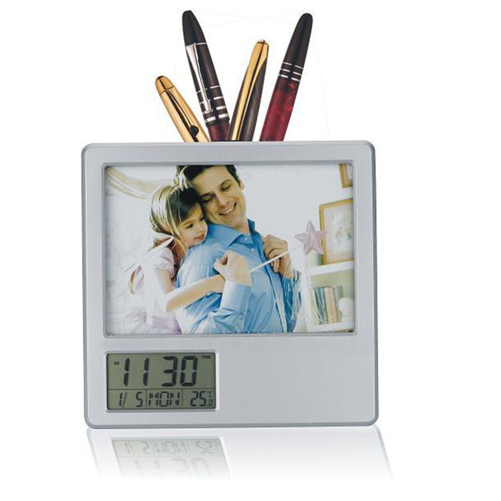 Multi-functional electronic pen Alarm clock Alarm Clock Photo Frame frame folding frame calendar penholder - Mega Save Wholesale & Retail - 1