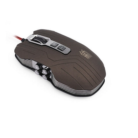 9D 2400DPI 9 Buttons Optical Usb Gaming Multimedia Mouse Gray - Mega Save Wholesale & Retail - 1