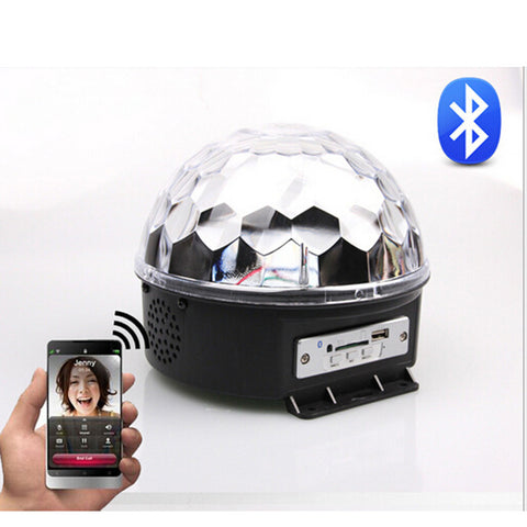 Disco DJ Effect Stage Lighting RGBOWP LED Mp3 Bluetooth Magic Crystal Ball Light 110V - Mega Save Wholesale & Retail - 1
