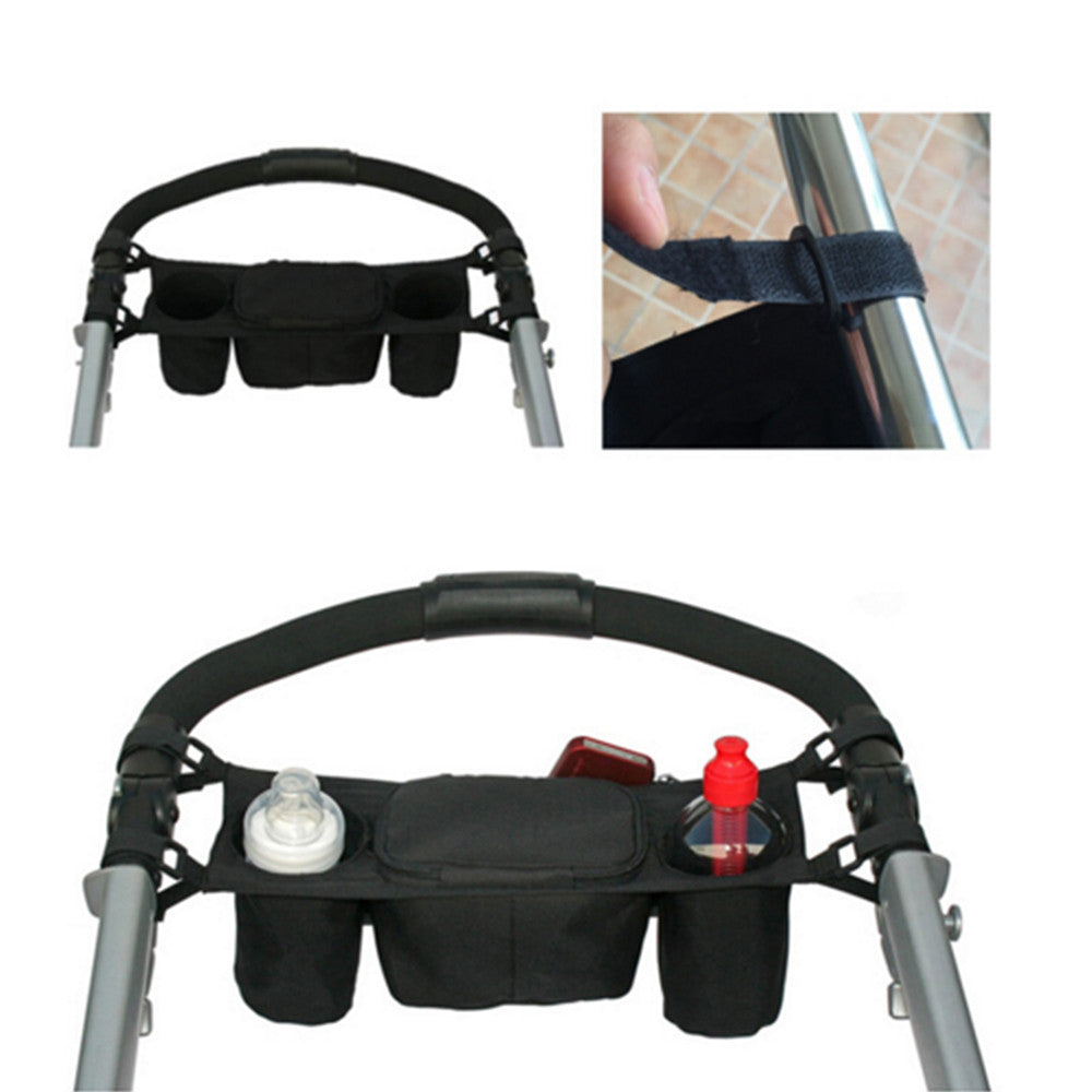 infant cart back tray hang bag cup bag feeder bag usable in stroller - Mega Save Wholesale & Retail - 4