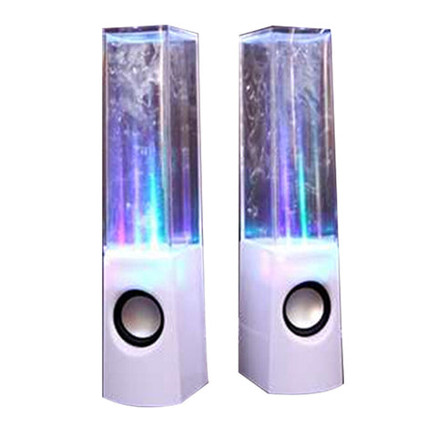 Dancing Water Speaker Music Fountain Light Speakers USB LED Dancing Water Show White - Mega Save Wholesale & Retail