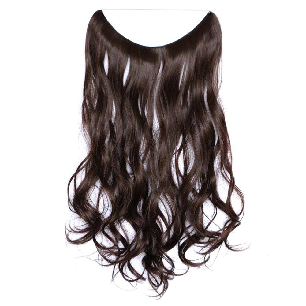 The new wig manufacturers wholesale hair extension fishing line hair extension piece piece long curly hair wig piece foreign trade explosion models in Europe and America  4A/33 - Mega Save Wholesale & Retail - 1