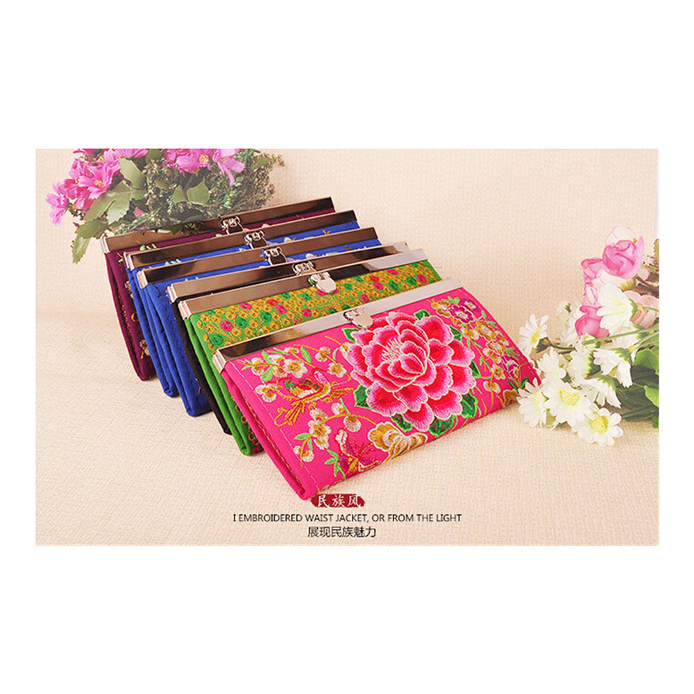 Yunnan National Style Embroidery Handbag National woman's Bag Handbag Small Coin Case - Mega Save Wholesale & Retail - 5