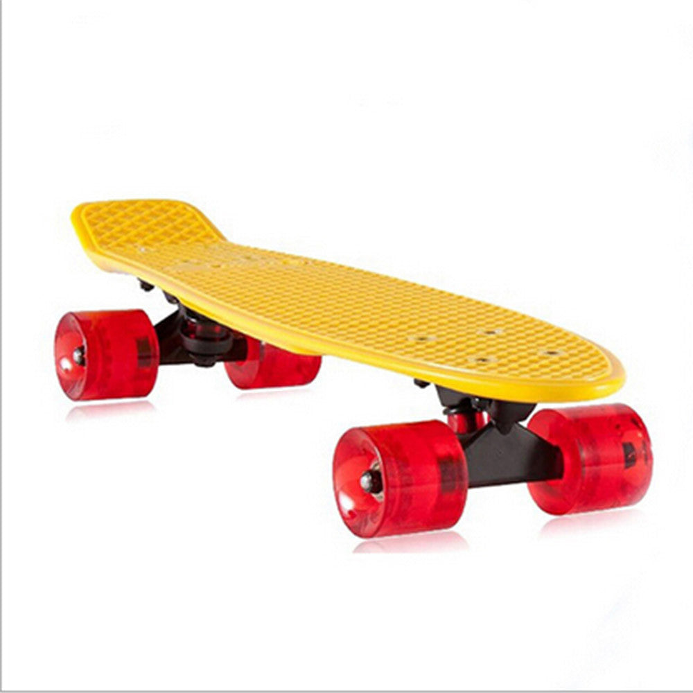 Complete Mini Cruiser Penny Style Skateboard street skate banana plastic Various colours Yellow - Mega Save Wholesale & Retail - 2