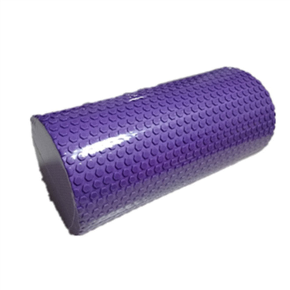 Yoga Gym Pilates EVA Soft Foam Roller Floor Exercise Fitness Trigger 30x14.5cm Purple - Mega Save Wholesale & Retail - 1