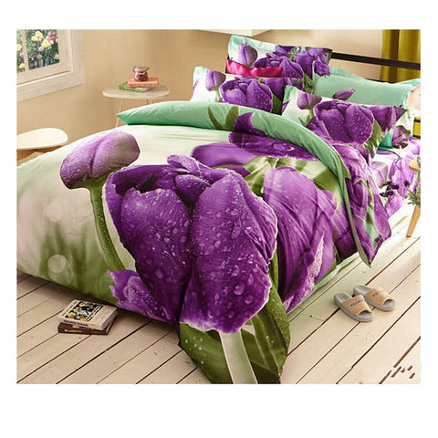 Cotton Active floral printing Quilt Duvet Sheet Cover Sets  Size 53 - Mega Save Wholesale & Retail