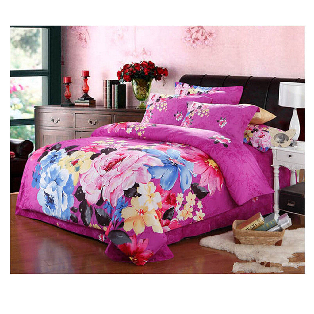 Cotton Active floral printing Quilt Duvet Sheet Cover Sets  Size 54 - Mega Save Wholesale & Retail