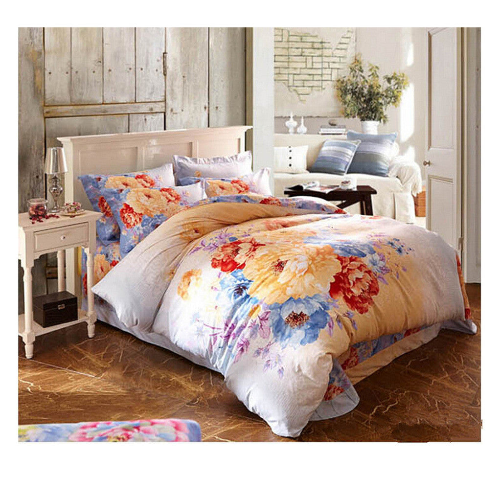 Cotton Active floral printing Quilt Duvet Sheet Cover Sets  Size 55 - Mega Save Wholesale & Retail