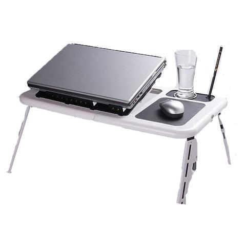 Foldable All in One Laptop Table with Cooling Pad - Mega Save Wholesale & Retail - 1