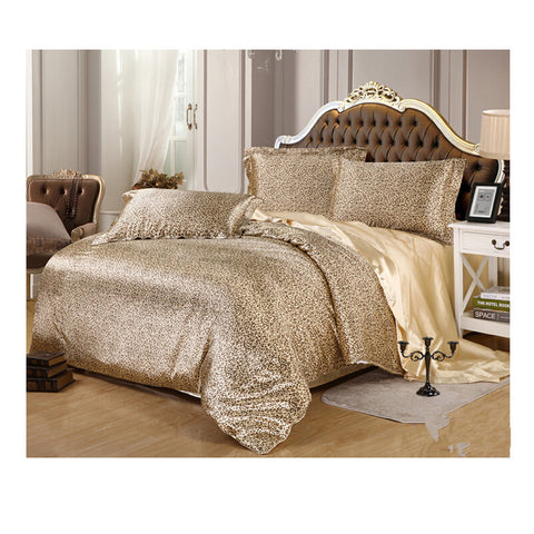 Silk King Queen Double Size Silk Duvet Quilt Cover Sets Bedding Cover Set 1.5M/1.8M Bed 02 - Mega Save Wholesale & Retail