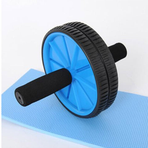 Abdominal Sport Training Wheel Roller BodyBuilding Workout Fitness Exerciser Blue - Mega Save Wholesale & Retail