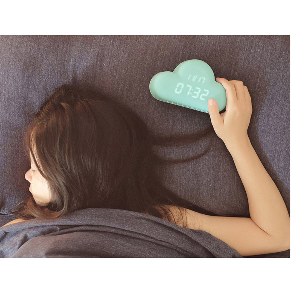 Creative Small Alarm Clock In The Shape Of Cloud USB/Battery-powered Voice Activation Snooze LED Alarm Clock - Mega Save Wholesale & Retail - 5