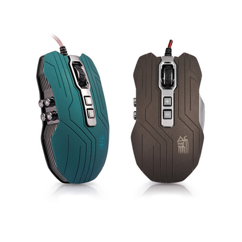 9D 2400DPI 9 Buttons Optical Usb Gaming Multimedia Mouse Green - Mega Save Wholesale & Retail - 1