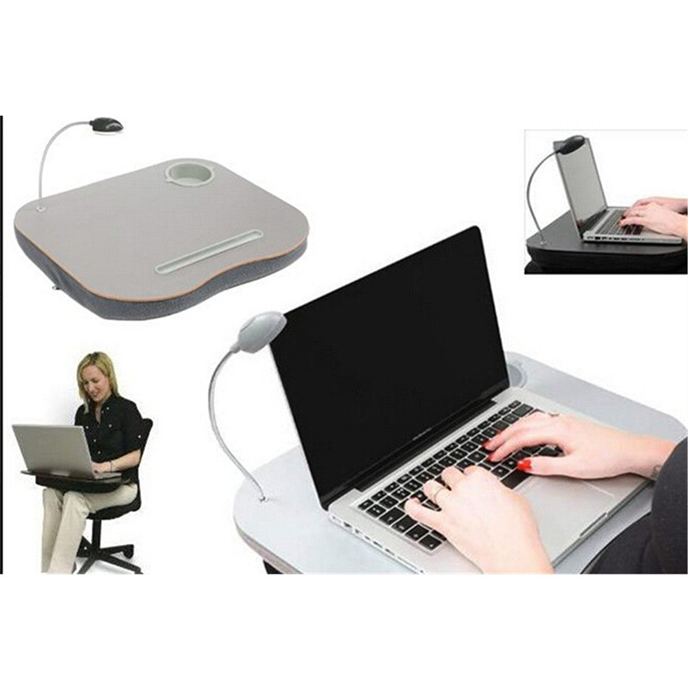 Laptop Desk Cushion with LED Light and Cup Holder PORTABLE - Mega Save Wholesale & Retail - 5