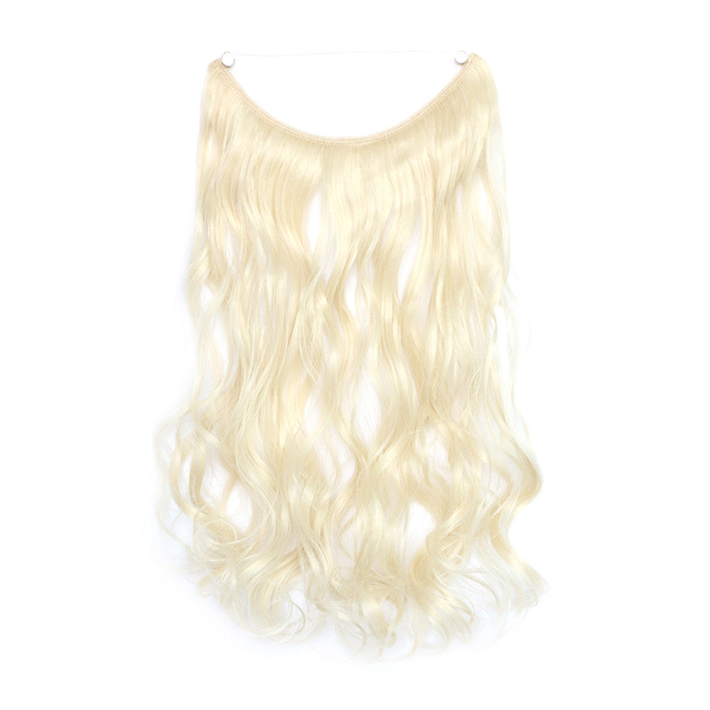 The new wig manufacturers wholesale hair extension fishing line hair extension piece piece long curly hair wig piece foreign trade explosion models in Europe and America  60/613 - Mega Save Wholesale & Retail - 1