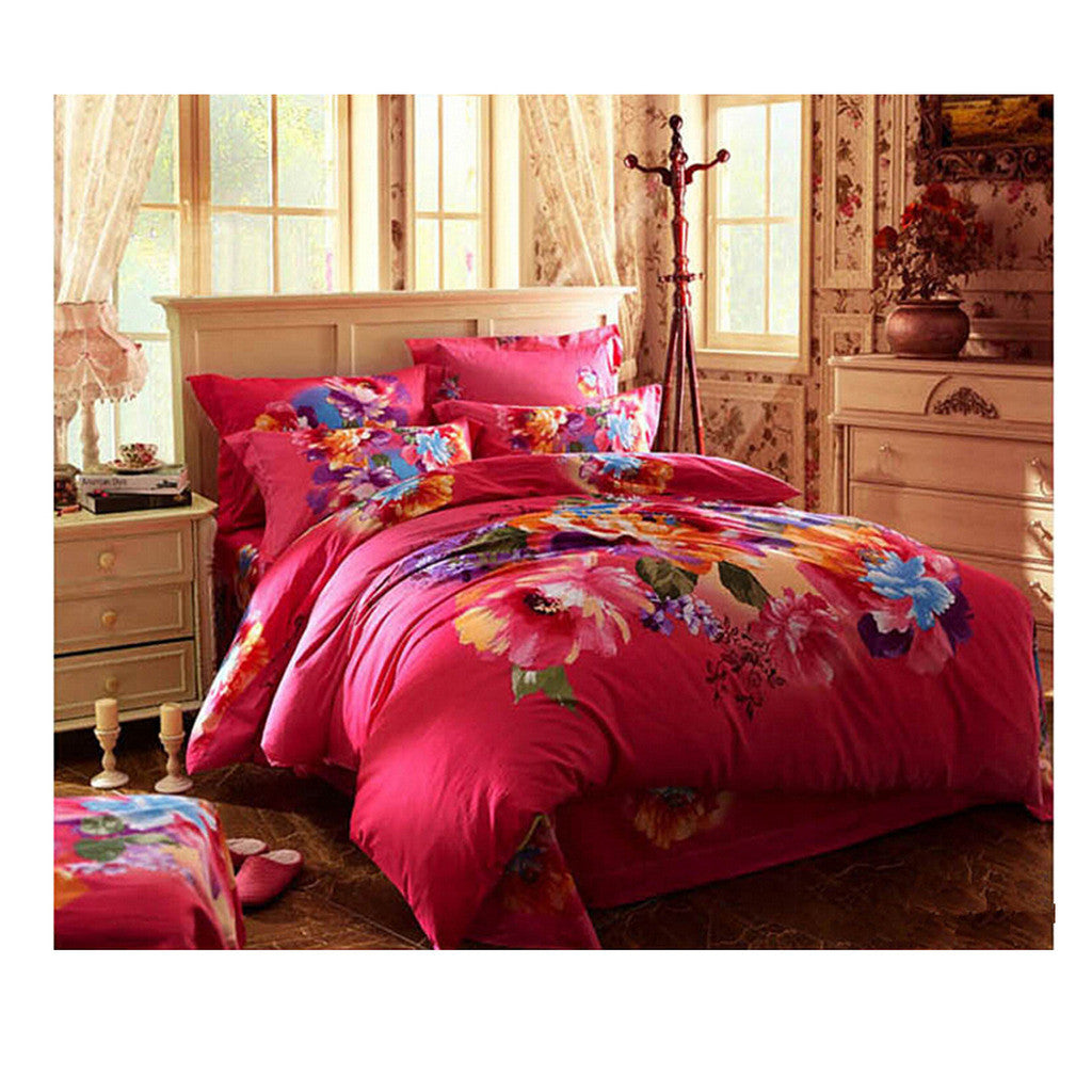 Cotton Active floral printing Quilt Duvet Sheet Cover Sets  Size 60 - Mega Save Wholesale & Retail
