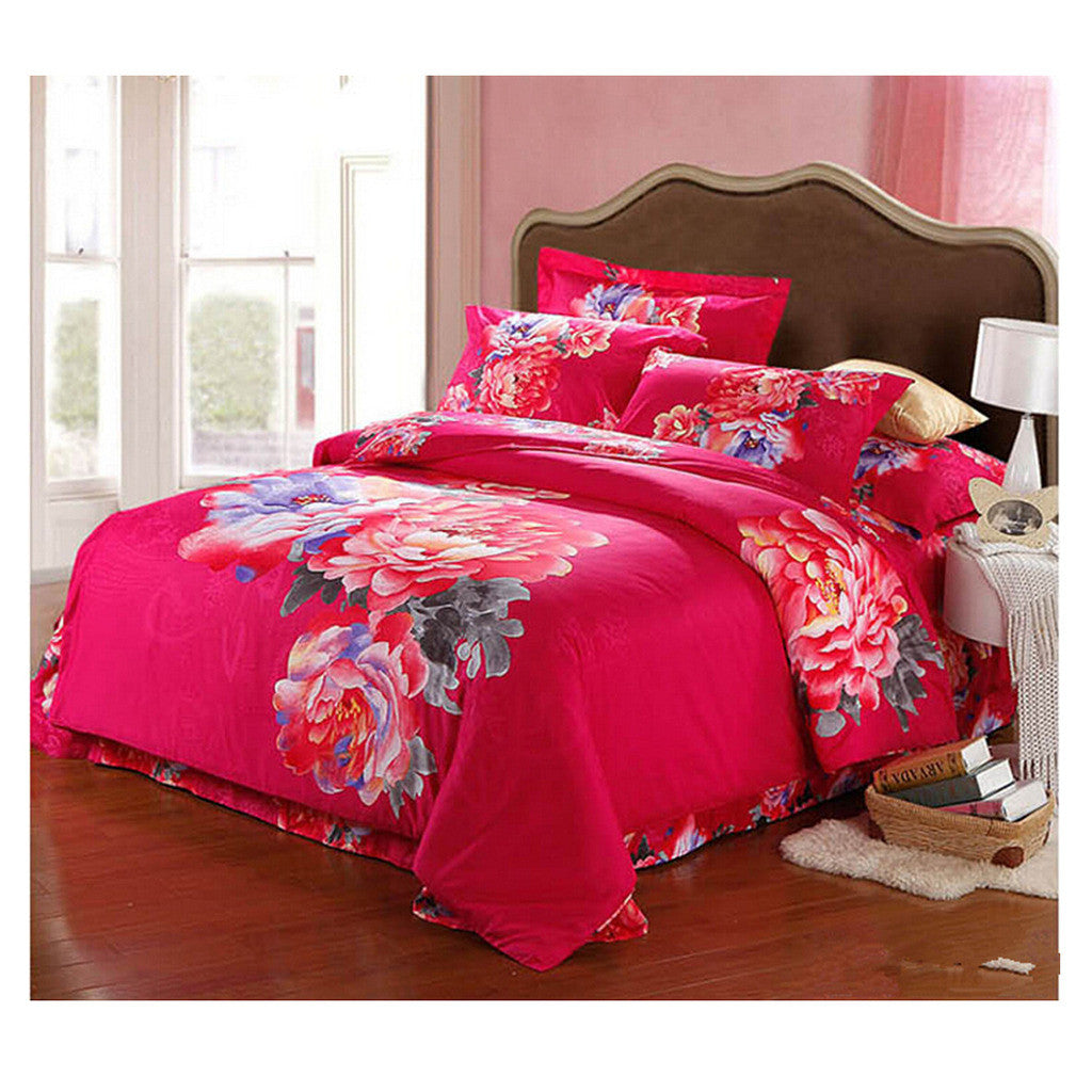 Cotton Active floral printing Quilt Duvet Sheet Cover Sets  Size 62 - Mega Save Wholesale & Retail