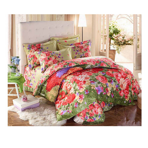 Cotton Active floral printing Quilt Duvet Sheet Cover Sets  Size 66 - Mega Save Wholesale & Retail