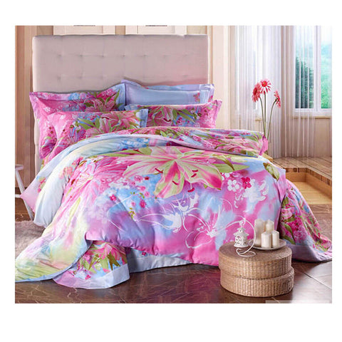 Cotton Active floral printing Quilt Duvet Sheet Cover Sets  Size 67 - Mega Save Wholesale & Retail