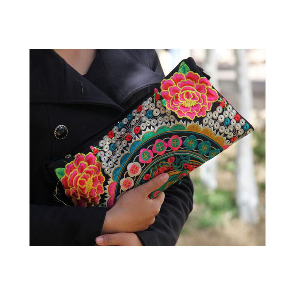 Original Yunnan Featured National Style Embroidery Bag Zipper Cotton Single-shoulder Bag Handbag Messenger Bag     1 - Mega Save Wholesale & Retail - 6