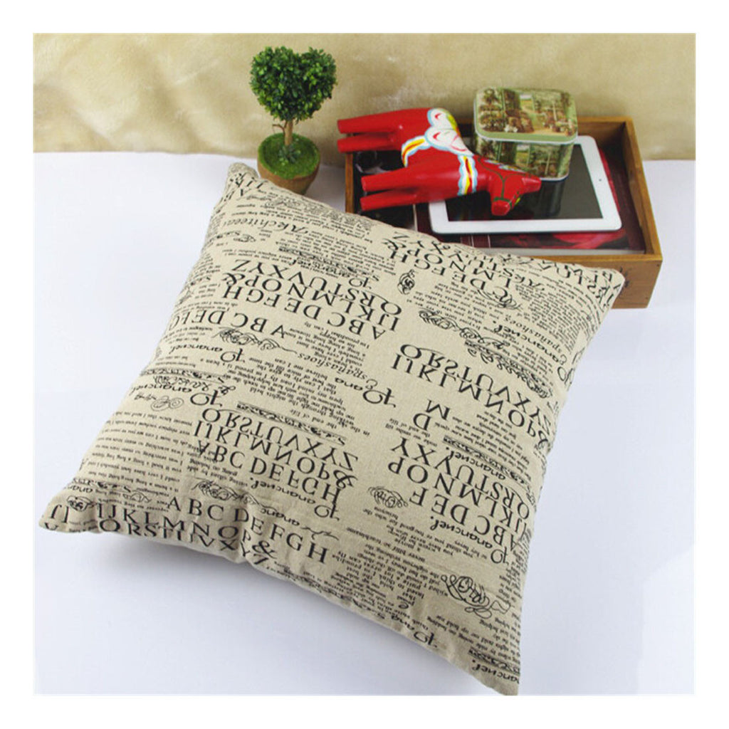 British Printed cotton  pillow cover cushion cover  6 - Mega Save Wholesale & Retail