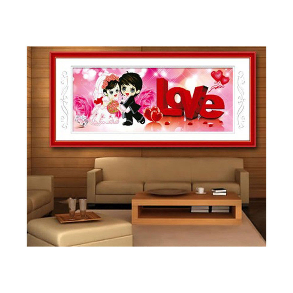 5D Diamond Painting Wedding Living Room LOVE Forever Figure Series Round Diamond - Mega Save Wholesale & Retail