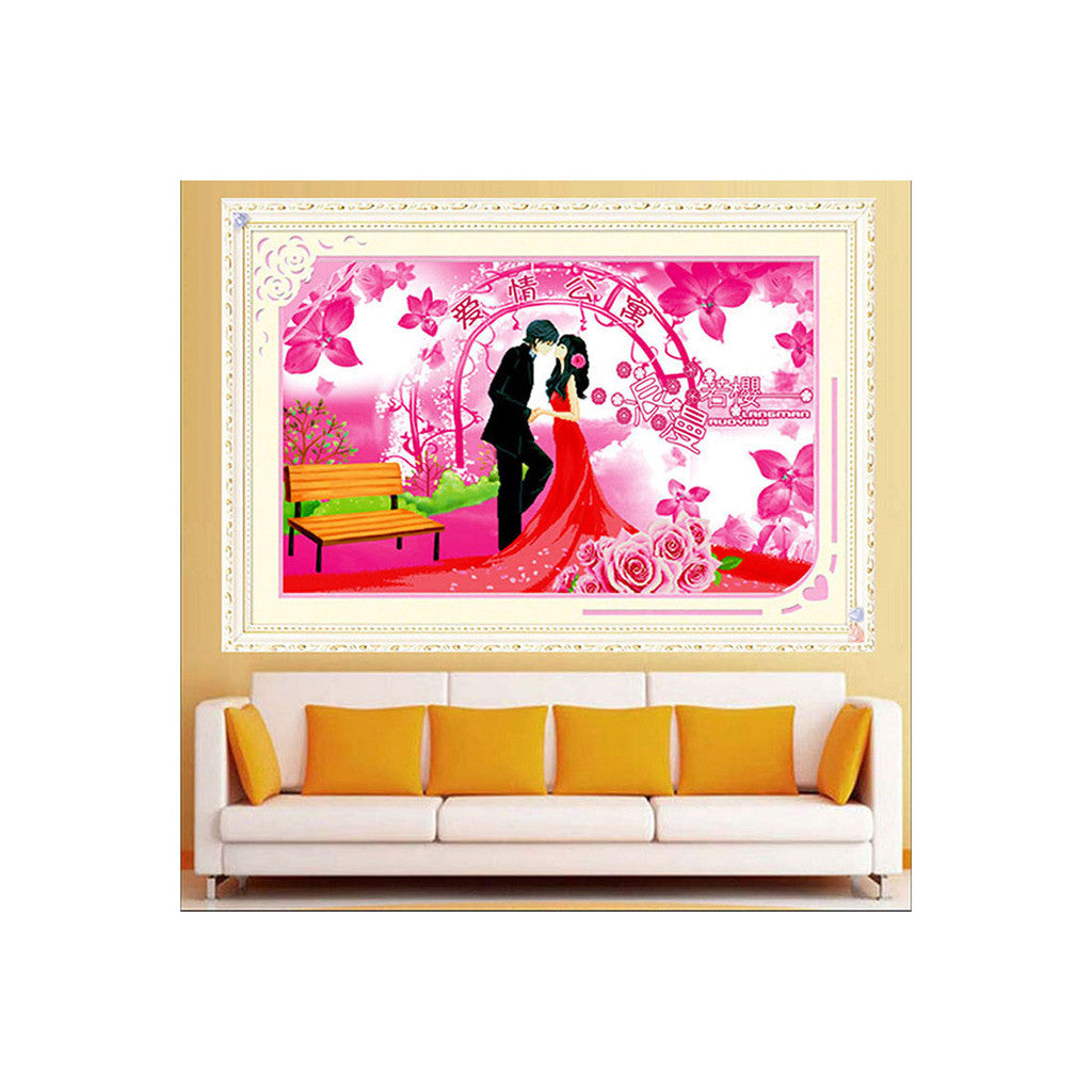 5D Diamond Painting Printing Wedding Cross Stitch Ipartment Season Lovers Bedroom Living Room - Mega Save Wholesale & Retail