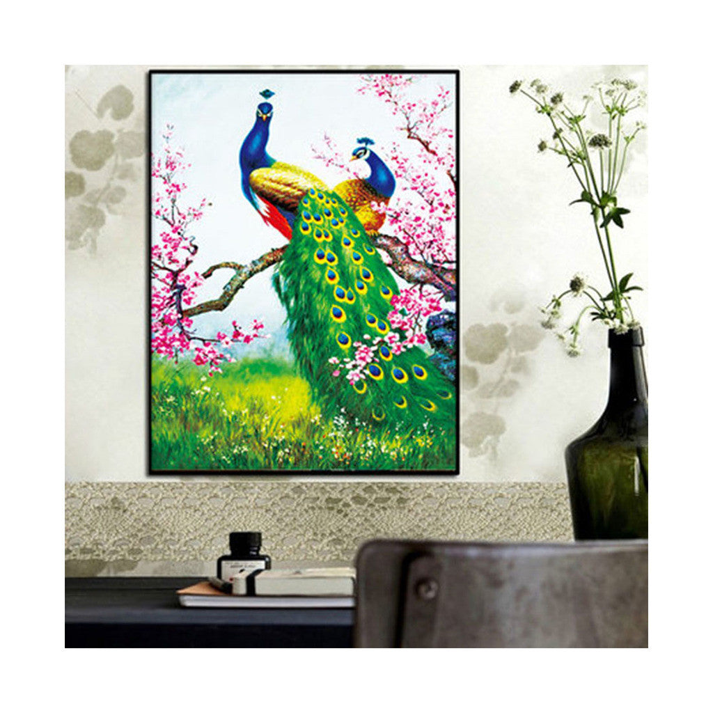 5D Diamond Painting Magic Cube Diamond Round Diamond Peacock Diamond Paste Living Room Cross Stitch Diamond Painting - Mega Save Wholesale & Retail