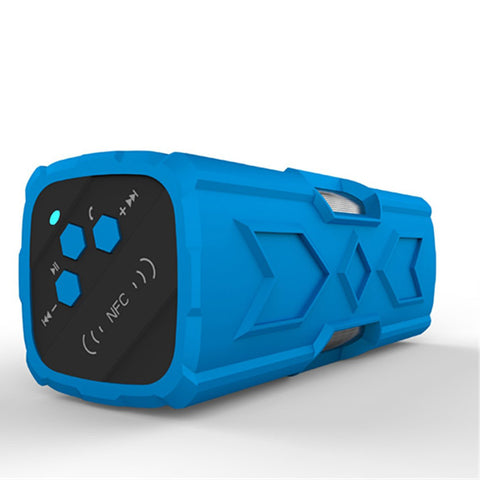 newest four waterproof Bluetooth wireless outdoor speaker stereo mountaineering priced 3D surround sound Blue - Mega Save Wholesale & Retail - 1