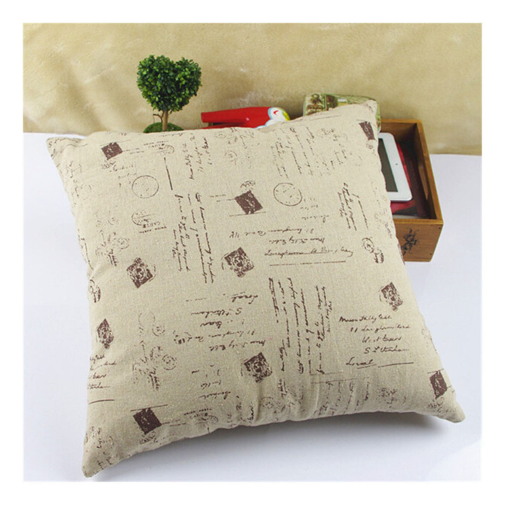 British Printed cotton  pillow cover cushion cover  7 - Mega Save Wholesale & Retail