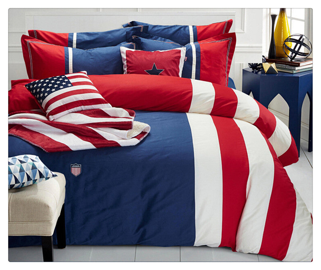 Cotton Concise Flag Warm Duvet Quilt Cover Sets Bedding Cover Sets 008 - Mega Save Wholesale & Retail