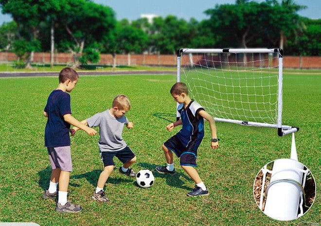 Moveable Adjustable Durable Steel Tube Soccer Goal with Net - Mega Save Wholesale & Retail - 2