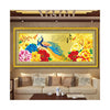 Diamond Painting Fortune Comes with Blooming Flowers Peacock Living Room Diamond Stitch Diamond Paste Cross Stitch Three-dimensioanl Diamond - Mega Save Wholesale & Retail