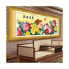 5D Printing Cross Stitch Living Room Magic Cube Diamond Painting Fortune comes with Blooming flowers Auspacious Auspacious Peony - Mega Save Wholesale & Retail