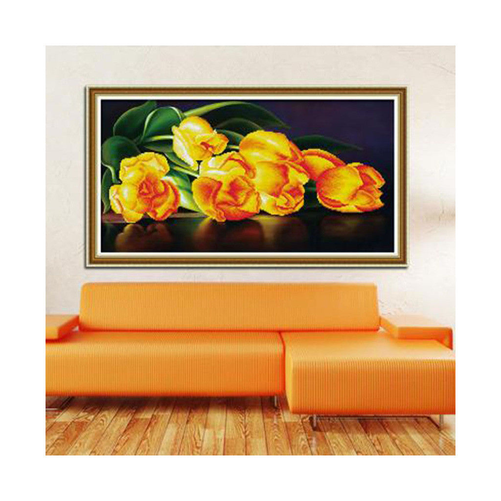 DIY 5D Diamond Painting Living Room Magic Cube Diamond Cross Stitch Fragrant Golden Life - Mega Save Wholesale & Retail