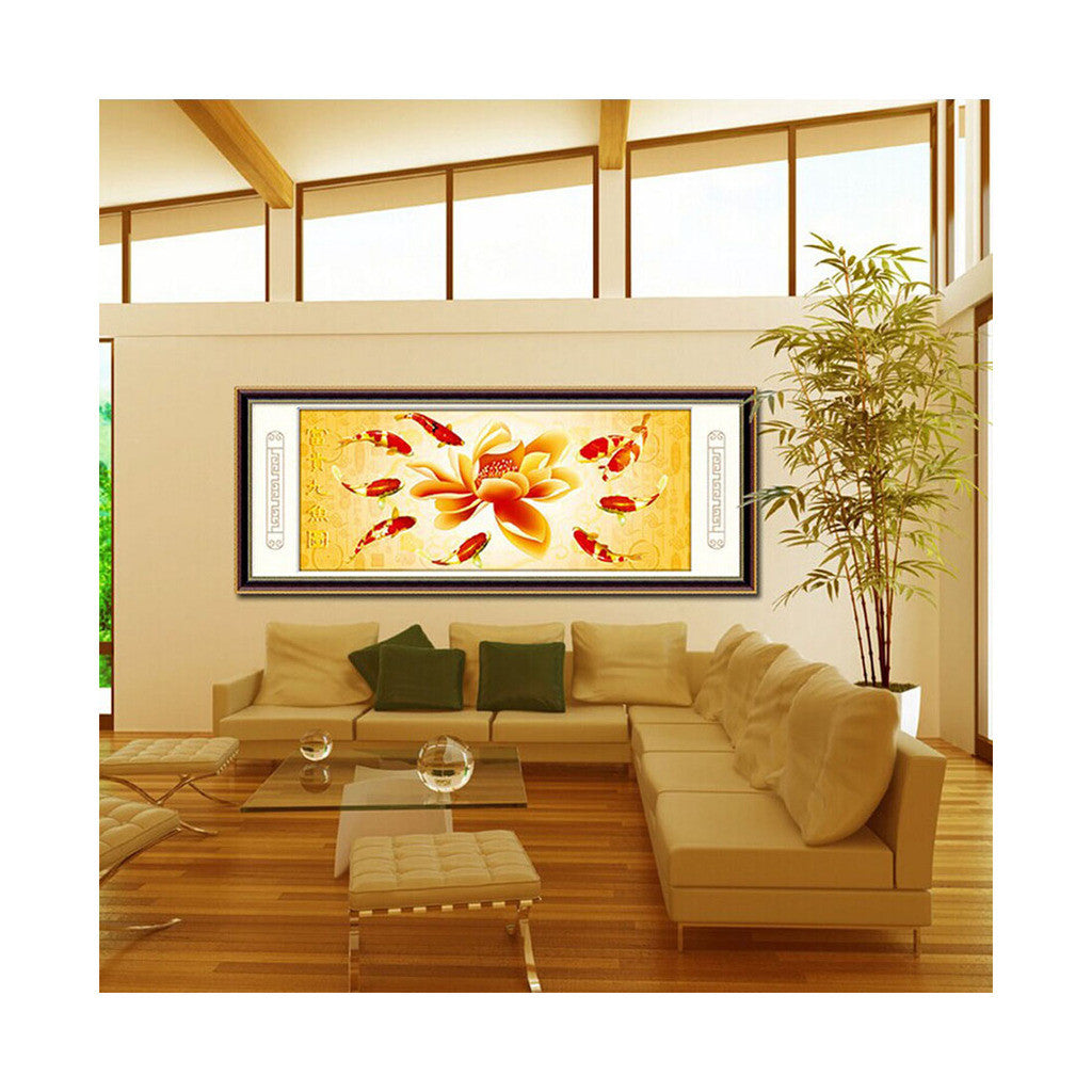Cross Stitch Diamond Painting More Than Being Jealous Nine Fishes Diamond Stitch Diamond Painting - Mega Save Wholesale & Retail