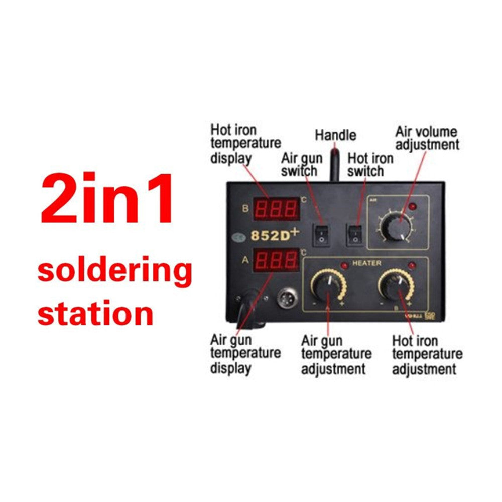 2IN1 SMD HOT AIR REWORK SOLDERING IRON STATION - Mega Save Wholesale & Retail - 3
