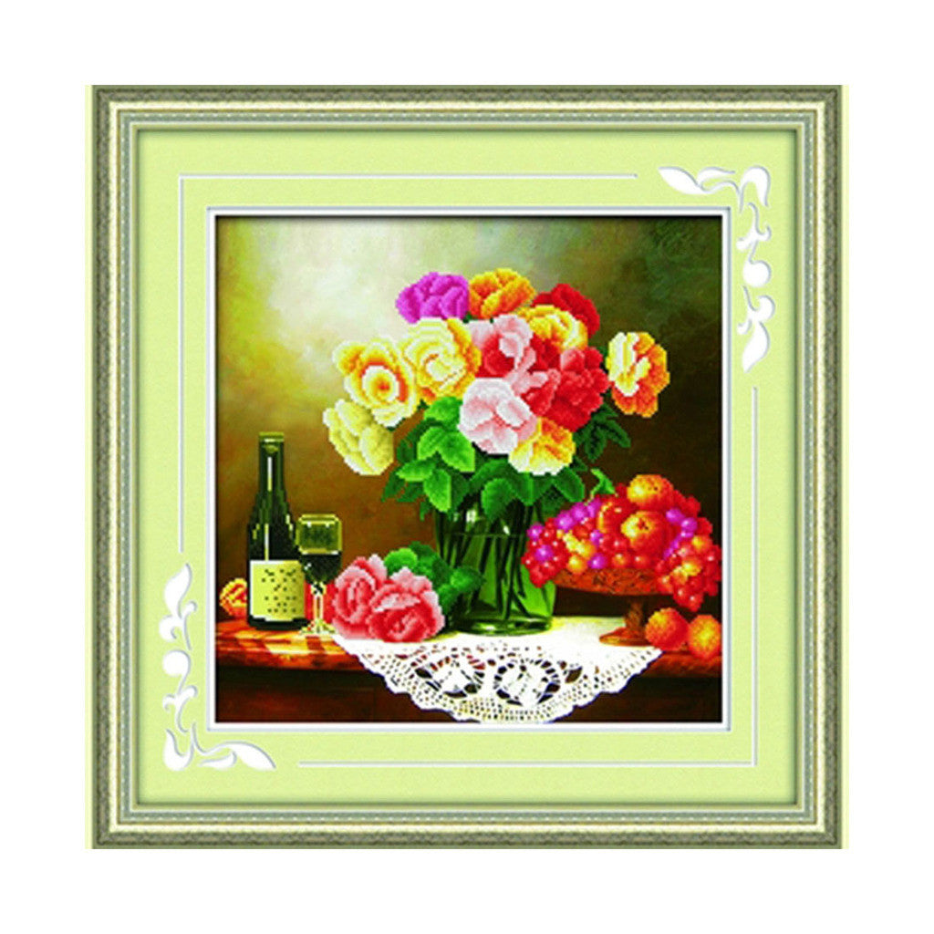 5D Diamond Painting Youth Story Dining Room Bedroom Wine Glass Cross Stitch - Mega Save Wholesale & Retail