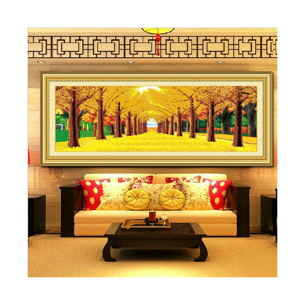 DIY Diamond Painting Square Diamond Golden Land Autumn 5D Magic Cube Diamond Round Diamond Full-jewelled - Mega Save Wholesale & Retail