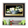 5D Diamond Painting Round Diamond Magic Cube Diamond Lilium Casa Blanca Diamond Paste Diamond Stitch Bedroom Cross Stitch - Mega Save Wholesale & Retail