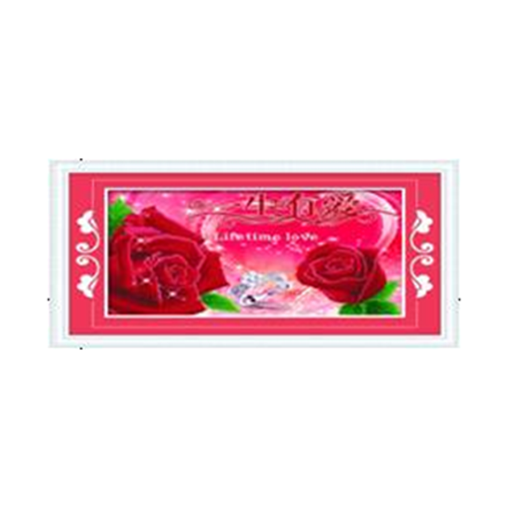 3D Diamond Stitch Love Lifelong Rose  Red Forever True Love Diamond Painting Cross Stitch - Mega Save Wholesale & Retail