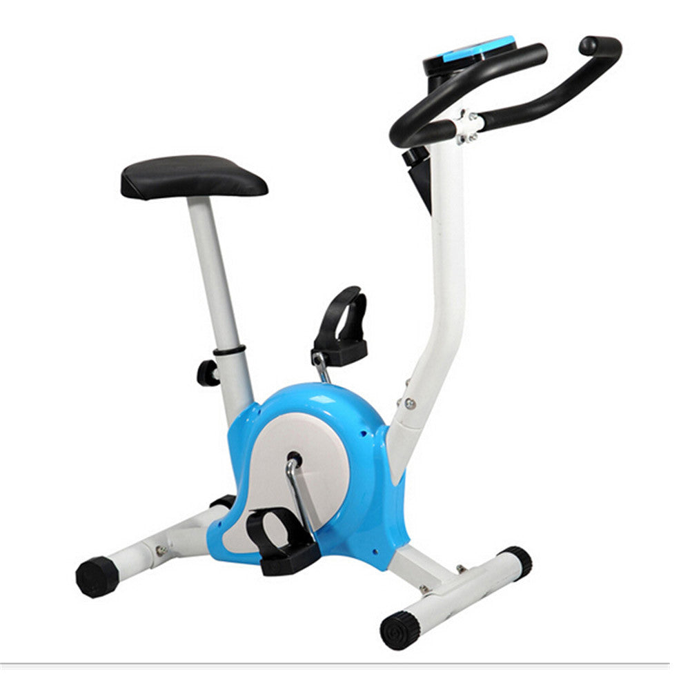 Home Gym Portable Upright Stationary Belt Exercise Fitness Bike Cycle Bicycle Blue - Mega Save Wholesale & Retail - 1