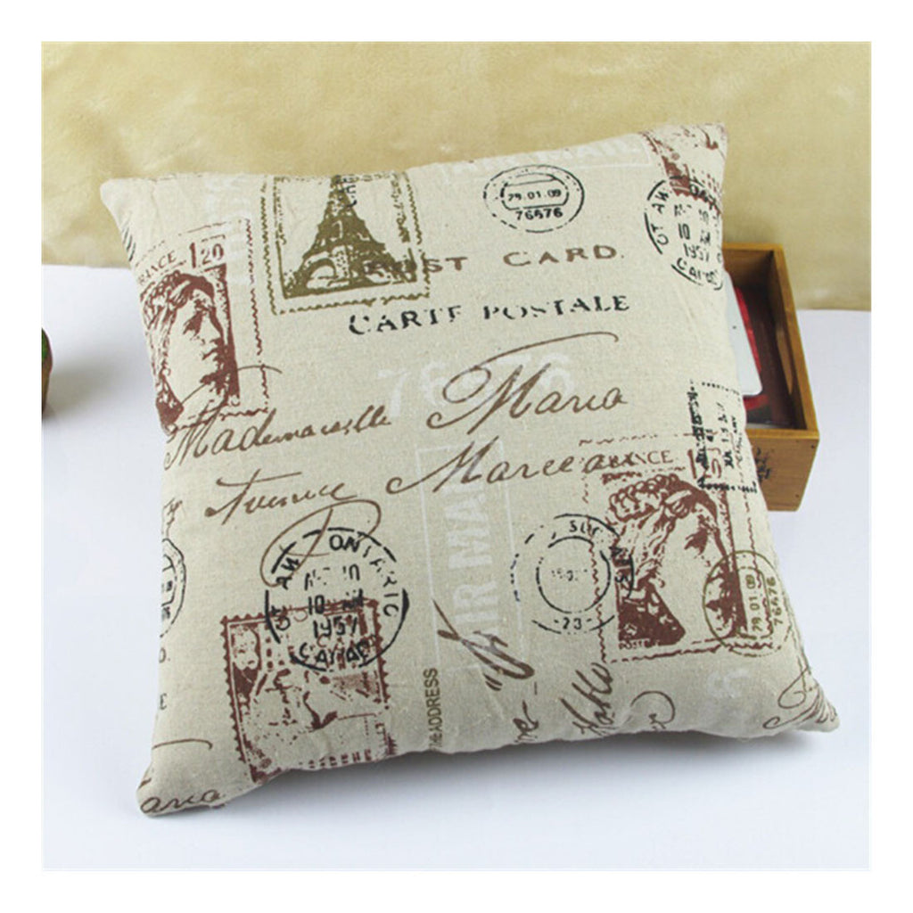 British Printed cotton  pillow cover cushion cover  8 - Mega Save Wholesale & Retail
