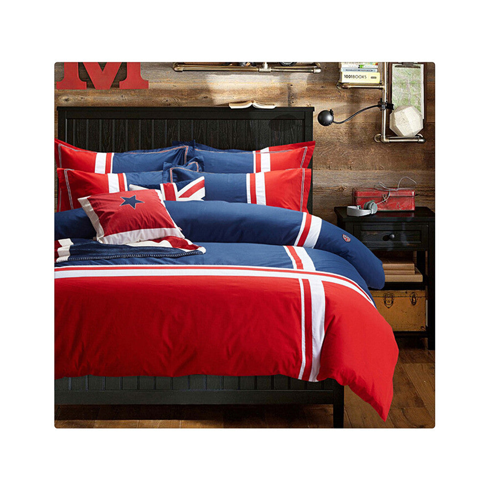 Cotton Concise Flag Warm Duvet Quilt Cover Sets Bedding Cover Sets 009 - Mega Save Wholesale & Retail