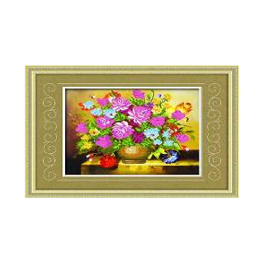 Diamond Painting Square Diamond Living Room Oil Painting Vase All Flowers Bloom Together Diamond Paste Full-jewelled - Mega Save Wholesale & Retail