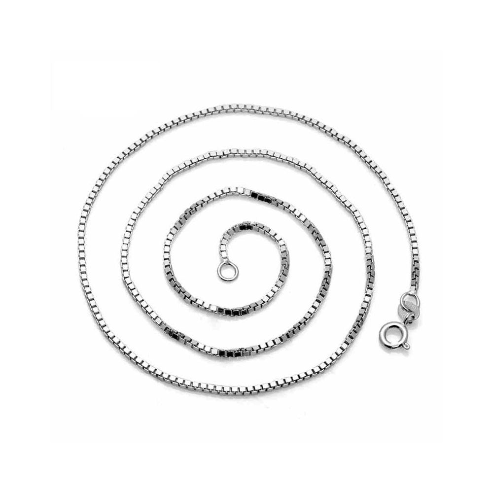 "Hot new necklace 925 sterling silver box chain pendant with chain manufacturers spot wholesale recruit agents 18"" WIDTH 1mm - Mega Save Wholesale & Retail"